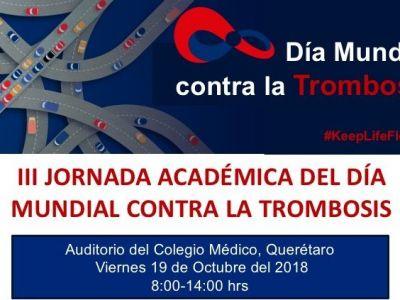 III Jornada Académica por el Día Mundial de la Trombosis, Colegio Médico de Querétaro