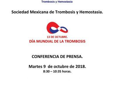 Conferencia de Prensa Día Mundial de la Trombosis