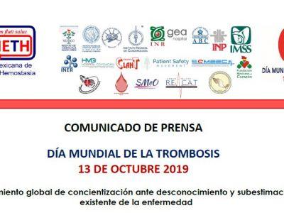 COMUNICADO DE PRENSA DÍA MUNDIAL DE LA TROMBOSIS