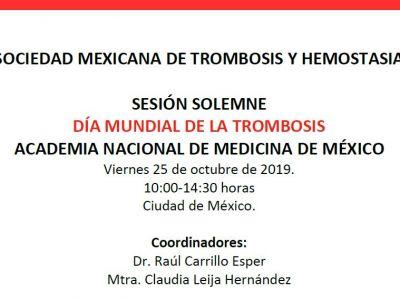 """Sesión Solemne """"Dìa Mundial de la Trombosis"""" Academia Nacional de Medicina de México"""